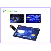 Promotional Credit Card USB Storage Device Ultra Thin Credit Card Shaped Customized Logo Manufactures