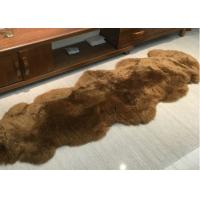 Real Sheepskin Rug Home Design Real Animal Fur Factory Direct Sale Dyed Brown Manufactures