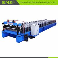 Automatic Color Steel Roof Panel Roll Forming Machine 12-15 Meters Per Minute Manufactures
