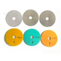 White 3 Steps 4 Inch Wet Diamond Polishing Pads For Stone / Marble Manufactures