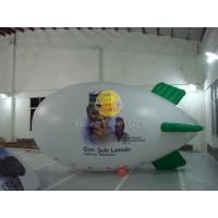 White Reusable Versatile Inflatable Advertising Helium Zeppelin with Digital Printing Manufactures