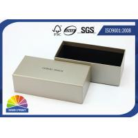 Grey Luxurious Printed Rigid Art Paper Gift Box / Custom Logo Sunglass Packaging Boxes Manufactures