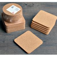 Quality High Quality Cork Coaster with silkscreen shrink wrapped packing, customized size is available for sale