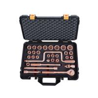 "Non Magnetic Hand Tools Socket Set 32 Pcs 1/2"" Drive By Copper Beryllium Manufactures"