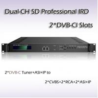 Digital TV SD Professional Two-Channel DVB-C Input TS Over IP Output IRD RIS1502 Manufactures
