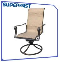 Sling Outdoor Patio Dining Arm Chair Swivel Chair Stackable Dining Chair Manufactures