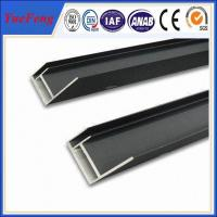 Hot sales 6063 t5 black anodized solar panel mounting frames with ISO quality Manufactures