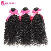 8A Virgin Indian Curly Hair Bundles , Indian Human Hair Weave No Smell Manufactures