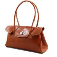 China Dark Brown Ladies Leather Business Bags , leather hand bags for women on sale