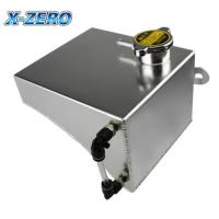 China S13 240SX Radiator Coolant Overflow Tank Aluminum Reservoir SR20DET KA24DE KA24E on sale