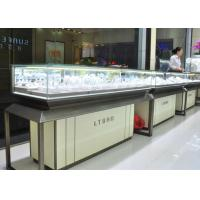 Fashion Jewellery Display Counter / Jewelry Store Fixtures Customized Logo Manufactures