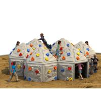 Playground Kids Climbing Wall Outdoor Plastic With Climbing Stone Manufactures