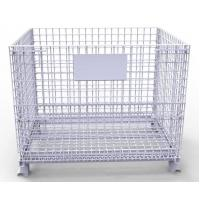 Quality Heavy Duty Tire Storage Cage Mesh Box Wire Metal Bin Container Industrial Metal for sale