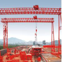 China 40t Fast lifting Truss Double Girder Gantry Crane for Precast yard on sale