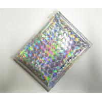 Customized Holographic Bubble Mailers Shiny Color With Ziplock Closure Recyclable Manufactures