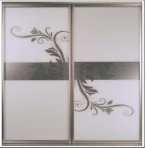 China CY-ZG2305A Silvery White Glass Sliding Door For Closet, Custom Modern Aluminum Sliding Glass Doors Factory on sale