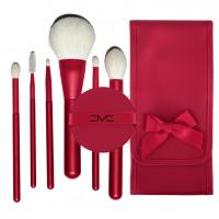 China OEM high quality 6pcs JF goat natural hair makeup brushes set factory on sale