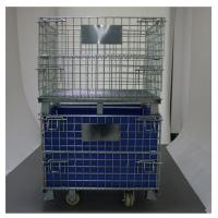 Lockable 1000mm Wire Storage Baskets With One Side Half Open Gate Manufactures