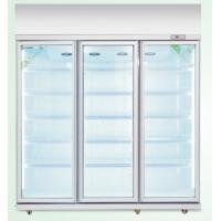China 1700L commercial upright  beverage display cooler with 3 glass doors on sale