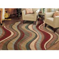 Non Slip Modern Floor Rugs Heat Transfer Printing Fabric PVC Dots Carpet Manufactures