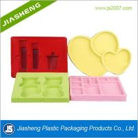 Luxury Artistic Flocking Tray For Cosmetic , Plastic Makeup Tray Manufactures