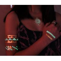 Fashionable Glow in the dark metallic tattoo 2015 hot product Manufactures