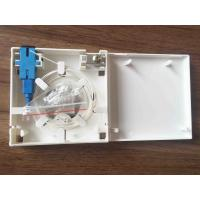 White ABS Material Optical Distribution Box 2 Ports Fiber Optic Faceplate Manufactures