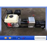 Steel Gas Engine Powered Winch 1 Ton With Axle Bar Driven Tranmission Manufactures