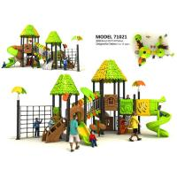 Creez Jungle Style Children'S Playground Equipment With Rock Climber And Net Frame Manufactures