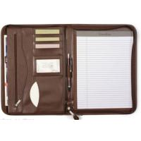 Deluxe Executive Vintage Brown Leather Zippered Padfolio Manufactures