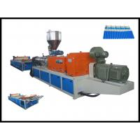 High Efficiency Durable Twin Screw Extruder For Plastic Corrugated Roofing Sheet Making Machine Manufactures