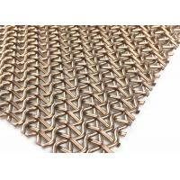 PVD Rose Gold Stainless Steel Decorative Wire Mesh 1500mm W 3700MM L Panel Manufactures