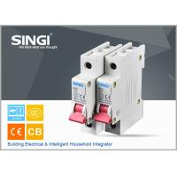 Breaking capacity reach to 10000 voltage 230v/400V 20a 50HZ single pole small circuit breaker overload protection Manufactures
