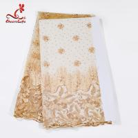 Multi Color Tulle Mesh Embroidered Beaded Lace Fabric Light And Transparent Texture Manufactures