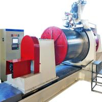 China HWJ300mm Wedge Wire Oil Well Screen Welding Machine With Mitsubishi System on sale
