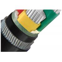 Galvanized Steel Wire  Armoured Electrical Cable 4 Cores Low Voltage  XLPE or PVC Insulation AL Cable Manufactures