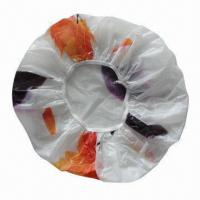 Disposable CPE/PE Shower Cap with Floral Printing Manufactures