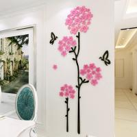 High quality factory Wall decal  Living Room Sofa cherry flower decoration wall decal stickers Manufactures