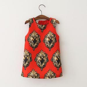 Quality Angou European Girls Dresses Summer Baby Girls Dress Sleeveless New Brand for sale