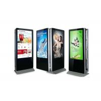 Double Side 55 Inch Free Standing LCD Display Digital Video Advertising Player Manufactures