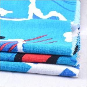China Rusha Textile Single Jersey 95% Viscose 5% Spandex Knitted Spun Rayon Printed Fabric on sale