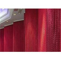 Red Aluminium Chain Curtain Double Hook Type With 1.6mm 1.8mm 2.0mm Wire Diameter Manufactures