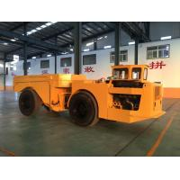 Yellow Heavy Duty Low Profile Dump Truck For Underground Mining Manufactures