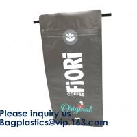 China Food Industrial Use And Moisture Proof Feature Resealable Zipper Kraft Paper Food Packaging Bags Doypack Pouch bags on sale