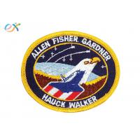 China Custom Eagle Air Force US Navy Iron On Patches , Custom Military Patches For Garment on sale