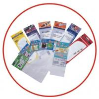 Recyclable Self Adhesive Transparent Plastic Sticker Bag With Header Manufactures