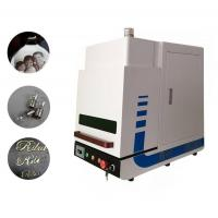 Enclosed Desktop Type MINI Fiber Laser Marking Machine for Industrial Marking 20W Manufactures