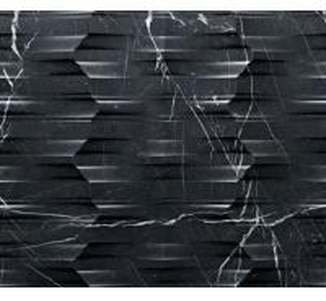 Natural Marble 3d Black Marquina sculptural wall art panel Manufactures