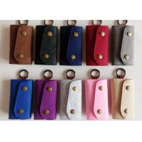 Accept OEM 43 Colors Felt Key Wallet Business Gifts Key Holder with 6 Hooks Manufactures