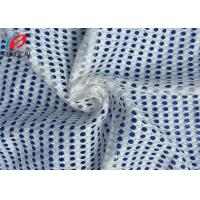 China White Colour 100% Polyester Non-Stretch Sport Mesh Fabric , Mesh Lining Fabric For Clothing on sale